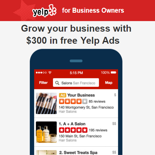 Image result for yelp ads